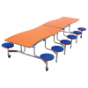 AmTab Wave Mobile Cafeteria Tables