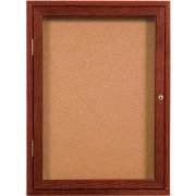 Enclosed Illuminated Cork Board - 1 Door (18