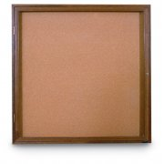 Enclosed Illuminated Cork Board - 1 Door (3'x3')