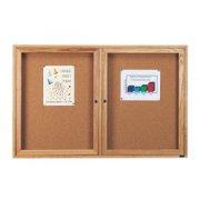 Wood Frame Enclosed Cork Board - 2 Door (5'x4')