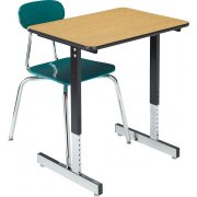 Basic Classroom Desk with T-Legs - Laminate Top