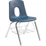 Poly Shell Classroom Chair with Bookrack (19.25