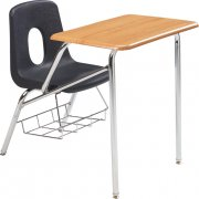 Poly Student Chair Desk - WoodStone Top (16