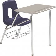 Poly Student Chair Desk - Hard Plastic Top (18
