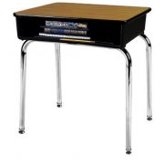 Open Front School Desk - Laminate Top