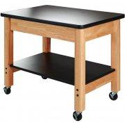 Mobile Demo Cart w/ Shelf - Chemsurf Top