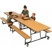 Mobile Cafeteria Table - Plywood Core, Vinyl Edge (10')
