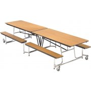 Mobile Cafeteria Table - Chrome Frame, Vinyl Edge (8')