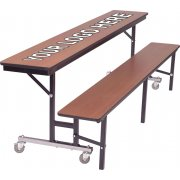 Mobile Convertible Bench Cafeteria Table - DynaEdge (8')