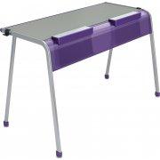 """A&D K-Leg Double School Desk w Tablet Book Cradle - 60""""x20"""""""
