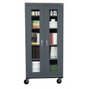 Mobile C-Thru Storage Cabinet Full Height (36