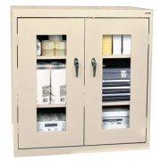 Stationary C-Thru Storage Cabinet Counter Height (36Wx24Dx42H)