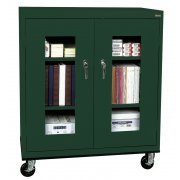 Mobile C-Thru Storage Cabinet Counter Height (36