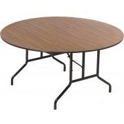 Round Plywood-Core Folding Table Wishbone Leg (60
