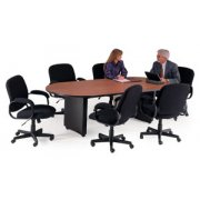 Curved Plinth Base Conference Table Fluted edges (120