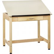 Drawing Table 1-Piece Top Large Drawer (37