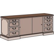 Bedford Executive Office Credenza File Cabinet