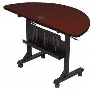 Flipper Table Half Round - Mahogany (48