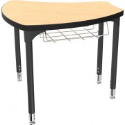 "Balt Shapes Collaborative School Desk w/ Book Basket (36""x34"")"