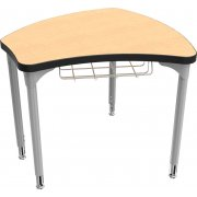 "Balt Shapes Collaborative School Desk w/ Book Basket (29""x27"")"