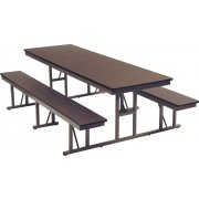Rectangular Cafeteria Table (4')