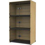 Instrument Locker -  Grille Doors, 3 Extra Wide Cubbies