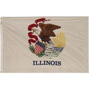 Nylon Outdoor Illinois State Flag (3x5')