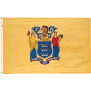 Nylon Outdoor New Jersey State Flag (3x5')