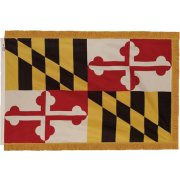 Indoor Maryland State Flag with Pole Hem and Fringe (3x5')