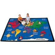 World Explorer Rectangle Carpet (4'5