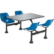 Cluster Seating Table - Stainless Top (30x48