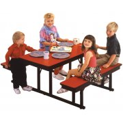 Rectangular Preschool Cafeteria Table (4')