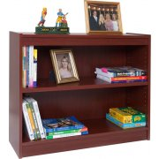 Contemporary Wood Veneer Bookcase Standard (36