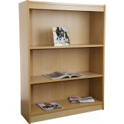Contemporary Wood Veneer Bookcase Standard (3'Wx4'H)