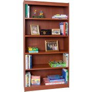 Contemporary Wood Veneer Bookcase Standard (3'Wx6'H)