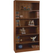 Contemporary Wood Veneer Bookcase Excalibur (3'Wx7'H)
