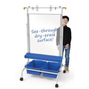 Clear Dry-Erase Chart Stand (23.5