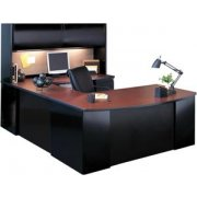 Exec. U-shaped Office Desk with Hutch