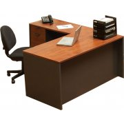 School Office L-Shaped Desk - Left