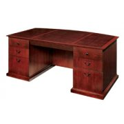 Del Mar Exec. Office Desk with Bow Front