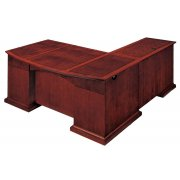 Del Mar Left L Office Desk with Bow Front