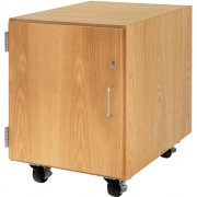 Wooden Mobile Pedestal with Left-Hinged Cabinet (30