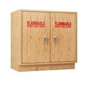 Flammable Liquid Storage Cabinet (Two Door, Maple)