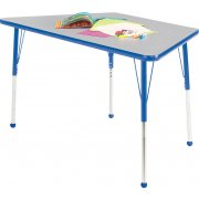 Edu Edge Trapezoid Activity Table with Ball Glides (24x24x48)