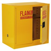 Wall-Mount Flammable Liquids Safety Cabinet with 3 Shelves