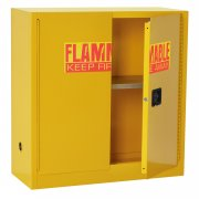 Flammable Liquids Safety Cabinet, 1 Shelf-30 Gal Cap