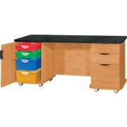 Empowered Innovative Teachers Desk with Power Strip (60