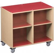 Palette Mobile Cubby Storage - Double-Sided (42
