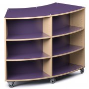 Palette Radius Mobile Library Shelving - Double-Sided (42