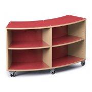 Palette Radius Mobile Library Shelving (36